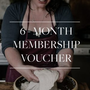 6 month membership gift voucher