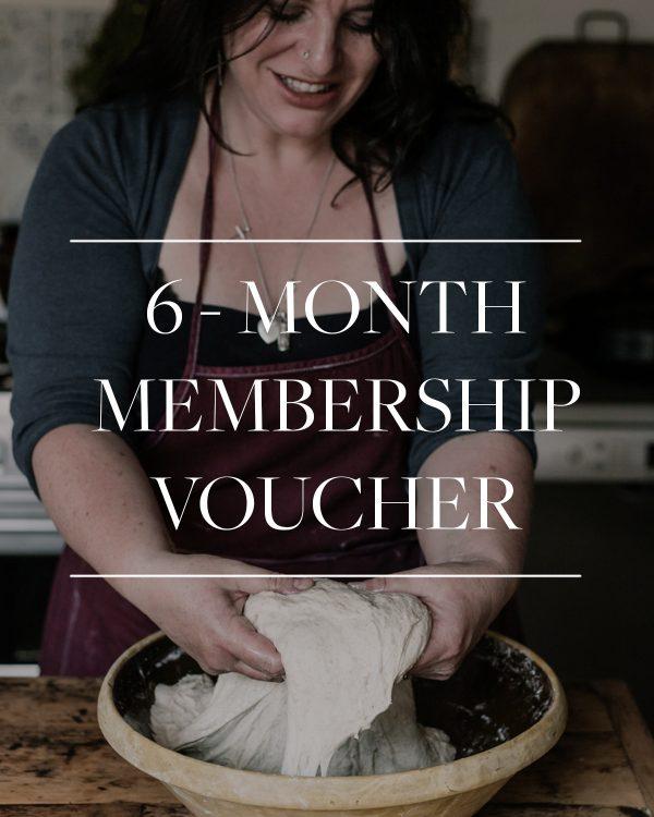 6 month membership gift voucher