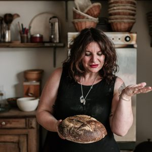 Vanessa Kimbell with a sourdough loaf