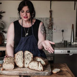 vanessa with fresh sourdough