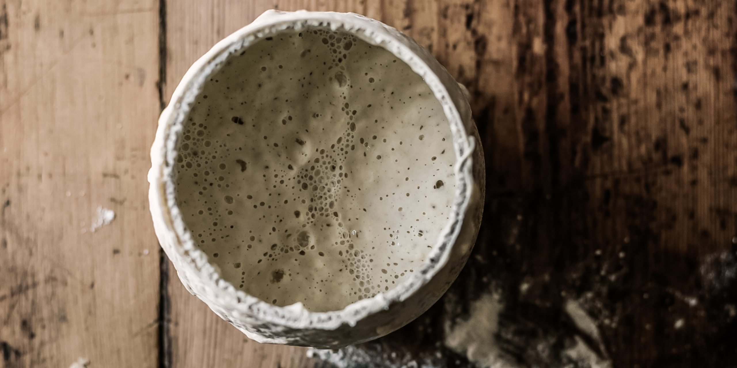 bubbles in sourdough starter