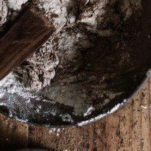mixing sourdough