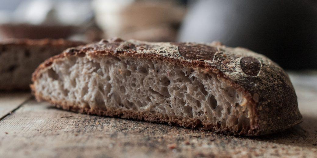 flat sourdough loaf