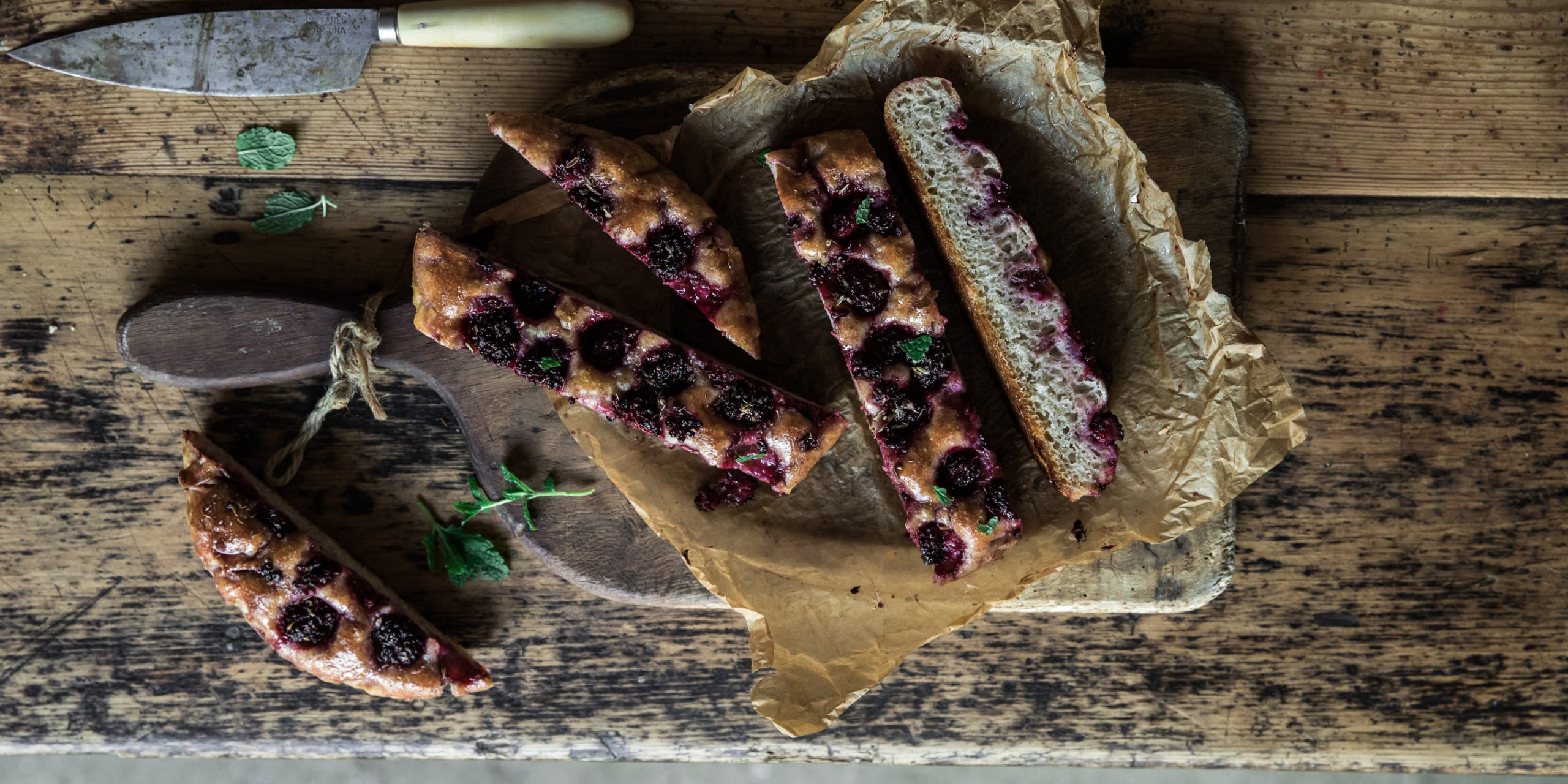 Life Kitchen - a simple Sourdough Blackberry, Fennel & Pistachio Focaccia