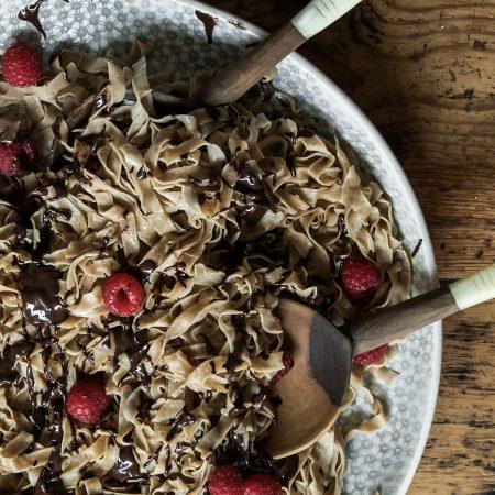 Sweet Chocolate Sourdough Tagliatelle