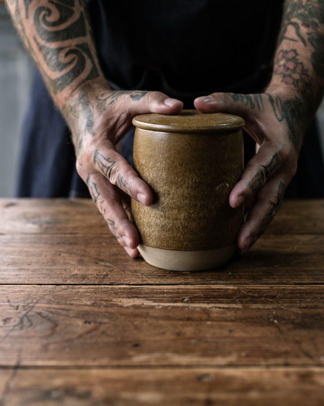 pottery west jars ochre