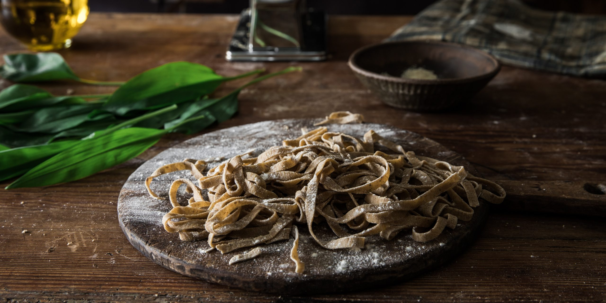 Sourdough Pasta with Wild Garlic Butter