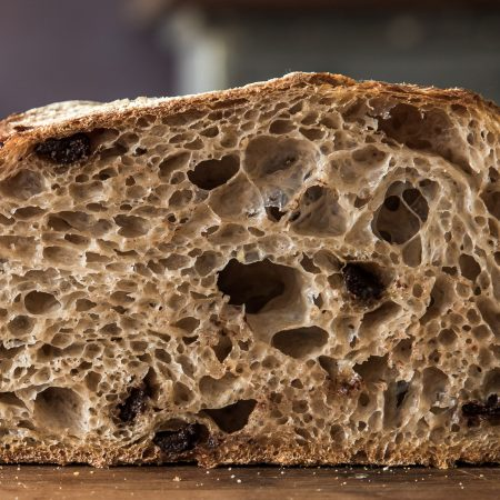 20% Chocolate Chip & Spiced Rye Classic Sourdough Boule – Retarded – Mid Hydration